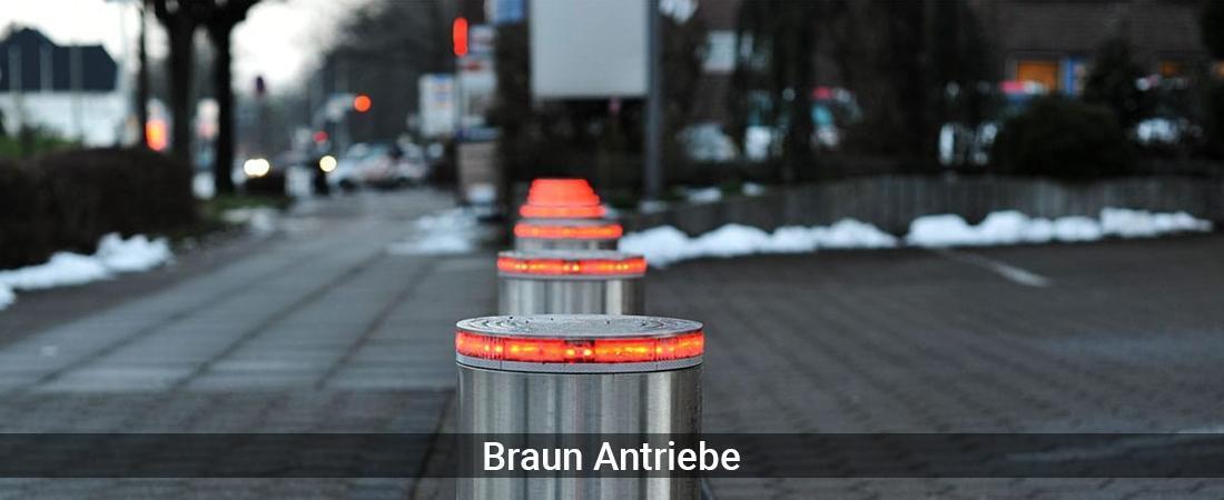 Absperrpfosten Baden-Württemberg - Braun-Antriebe: Poller versenkbarVersenkbare Poller, Sicherheitspoller