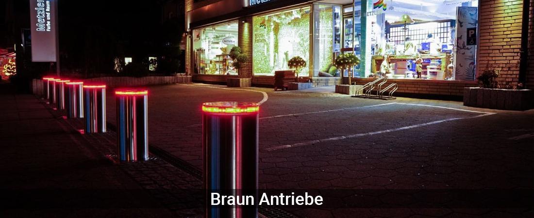 Absperrpoller Hannover - Braun-Antriebe: Versenkbare PollerPoller versenkbar, Edelstahlpoller