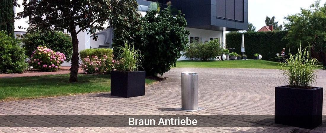 Absperrpoller Bergisch Gladbach - Braun-Antriebe: Poller versenkbarVersenkbare Poller, Sicherheitspoller