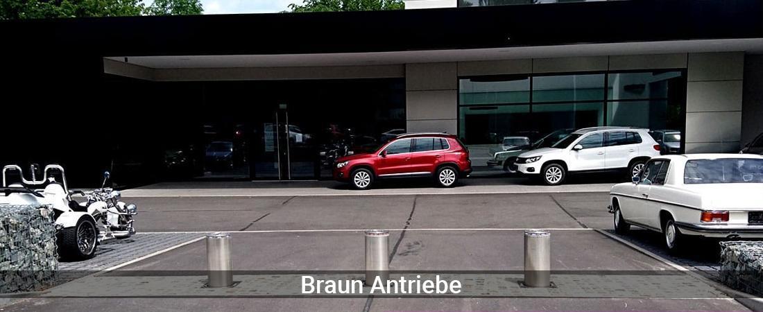 Absperrpfosten für Köln - Braun-Antriebe: Versenkbare PollerPoller versenkbar, Poller elektrisch